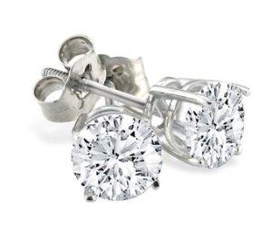 $1791/3ct D-E-F Colorless Diamonds Stud Earrings @ SuperJeweler