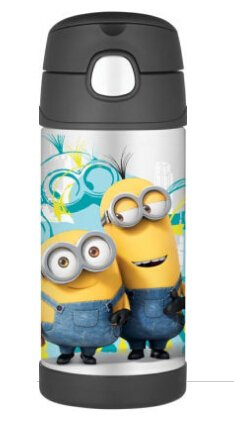 $4Despicable Me Minions Funtainer Thermal Bottle 12 oz.