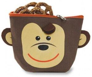 $5.99(原价$20) 幼儿园新生必备!带录音功能的小猴子造型儿童零食收纳袋