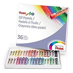 $2.64 PENTEL PHN36 Oil Pastel Set With Carrying Case