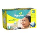 Pampers Swaddlers婴儿纸尿裤超大包装(1-6号,100-216片)