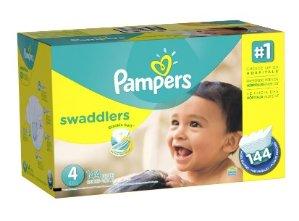 $33.42包邮Pampers Swaddlers婴儿纸尿裤超大包装(1-6号,100-216片)