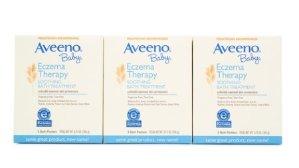 $11.99(原价$14.99)Aveeno缓解婴儿湿疹燕麦泡澡粉(3盒装)