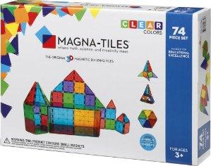 $59Magna-Tiles Clear Colors 74 Piece Set