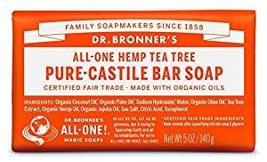 近期好价$5.43(原价$13)Dr. Bronner's 生态精油皂(茶树油香型/140g)