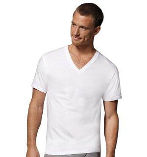 $9 Hanes Men's V-Neck T-Shirts (Pack of 6)