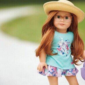 小公主小七也爱它,满足梦幻少女心~American Girl 美国洋娃娃官网购物满$100免运费