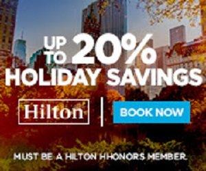 2日闪购 低至8折希尔顿美洲酒店11月促销