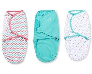 CDN$28SwaddleMe 全棉婴儿安全包巾3件装 - 小中号