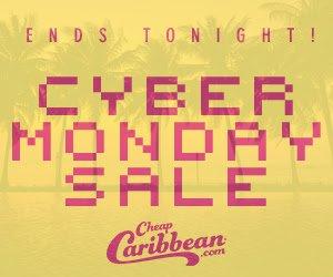 仅限一天!最高省$150!Cheap Caribbean网络星期一火热促销