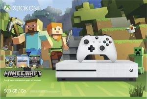2016 Black Friday! $229.99 Xbox One S 500GB Minecraft Favorites Bundle - Robot White