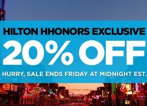 20% OffHilton Hhonors Exclusive Sale @ Hilton