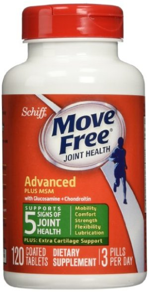 $12 Move Free Glucosamine Chondroitin MSM and Hyaluronic Acid Joint Supplement, 120 Count