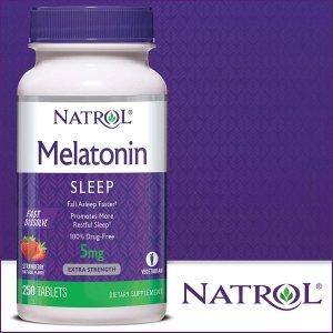 $7.99Natrol Melatonin褪黑素 5毫克 助睡眠神器 250片