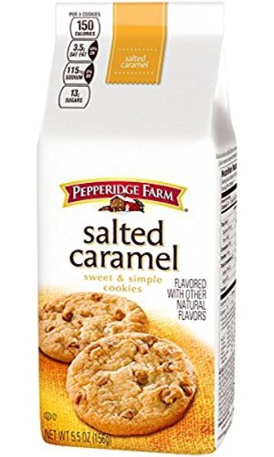 $2.5Pepperidge Farm Sweet and Simple Salted Cookie, Caramel, 5.5 Ounce