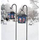 $7.55 Moonrays 92276 Solar Powered Hanging Floral Stained Glass LED Light