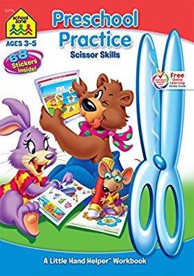 $2.74 Preschool Practice Scissor Skills Workbook Ages 3-5