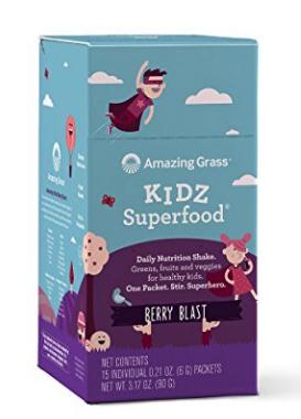 $9.59Amazing Grass, Organic Vegan Kidz Superfood Powder with Greens, Box of 15 Individual Servings