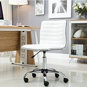 $59BTEXPERT 白色皮质办公椅