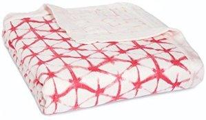 $35.97aden + anais Silky Soft Dream Blanket, berry shibori @ Amazon.com