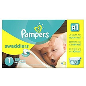 $31Pampers Swaddlers Disposable Diapers Newborn Size 1 (8-14 lb), 168 Count