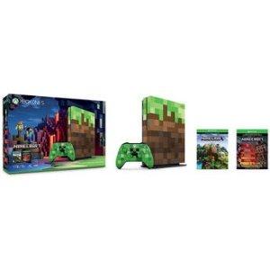 $249 (原价$349)Microsoft Xbox One S Minecraft 1TB 限定同捆套装