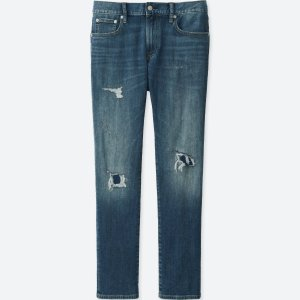 $9MEN SLIM-FIT DAMAGED JEANS @ Uniqlo