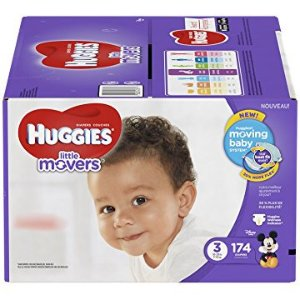 $23.58 Prime专享Huggies Little Movers 好奇婴儿尿布3号174片