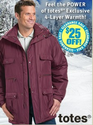 From $4.99Totes Men's Jackets at Haband's