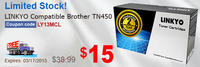 $15LINKYO Compatible Brother TN450 Black Toner Cartridge
