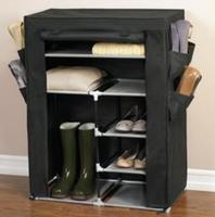 $12Brylane Home Portable Wardrobe with Shoe Pockets