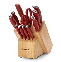 $29KitchenAid Classic Soft Grip Red 12-pc. Cutlery Set
