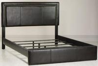 $168Redford Faux-Leather Queen Bed
