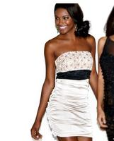 $25Body Central Women's Strapless Ruched Dress