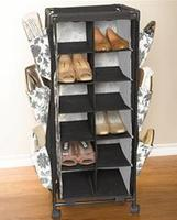 $14BrylaneHome Rolling Cart with Shelves