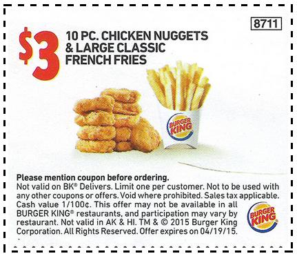 $310 Chicken Nuggets and 1 Large French Fries