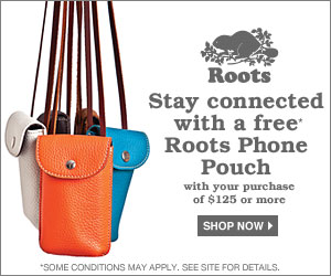 Free Roots Phone Pouchwith Purchase over $125 at Roots USA