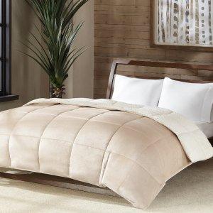All Sizes $57.99 + $10 Macy's MoneyReversible Micro Velvet And Sherpa Down Alternative Comforter, Hypoallergenic
