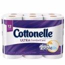 $6.49 Cottonelle Ultra ComfortCare Family Roll Toilet Paper Bath Tissue, 12 Count