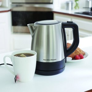 $19.96 Hamilton Beach 40998 1 L Stainless Steel Electric Kettle, Silver