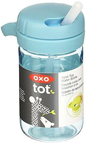 $5.99OXO Tot Twist Lid Water Bottle for Big Kids (12 Oz) - Aqua @ Amazon.com