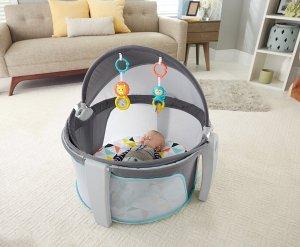 $49.98费雪Fisher-Price  婴儿睡眠/玩乐二合一便携式围栏