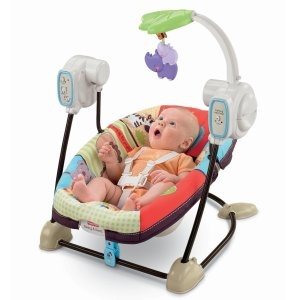 $43Fisher-Price Space Saver Swing and Seat, Luv U Zoo