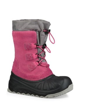 $44UGG Kids and Toddlers Shearling-Lined Leather Winter Boots