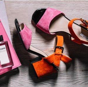 $70 (原价$140)  国内特价¥1199(原价¥1490)GEOX 2017羊反绒皮撞色凉鞋 封面色6.5码最后几双