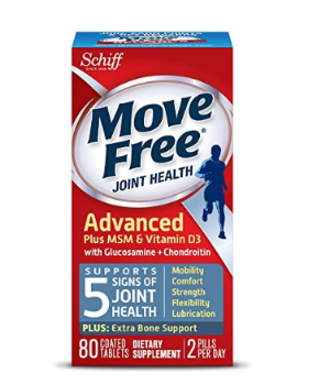 $12 Move Free Advanced, 80 tablets - Joint Health Supplement with Glucosamine and Chondroitin