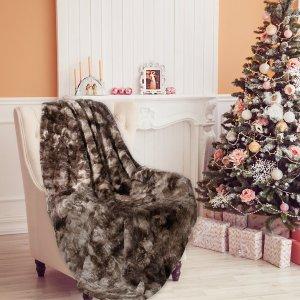 $9.99 (原价$29.99)史低价:LANGRIA 奢华人造毛绒休闲毯,3色选