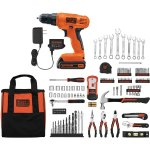 BLACK+DECKER LD120128PKWM 20V Lithium Drill/Driver with 128-Piece Project Kit