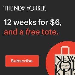 限时$0.5每刊 送帆布托特包《The New Yorker》杂志12刊只要$6 纸质版电子版任选