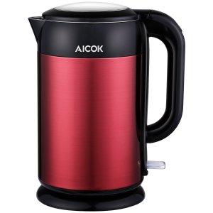 33.98 (原价$42.98)+免邮Aicok 1.7升全不锈钢双壁保温电热水壶
